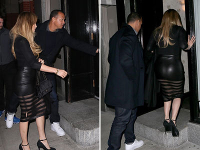 A-Rod Plays the Gentleman, Gets Rear View of J Lo in Leather (PHOTO GALLERY + VIDEO)