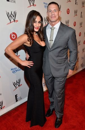 Nikki Bella and John Cena -- The Happy Couple