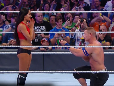 John Cena PROPOSES At WrestleMania ... Nikki Bella Says 'Yes' (VIDEO)