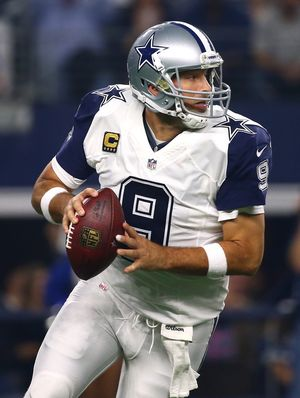 Tony Romo on the Field