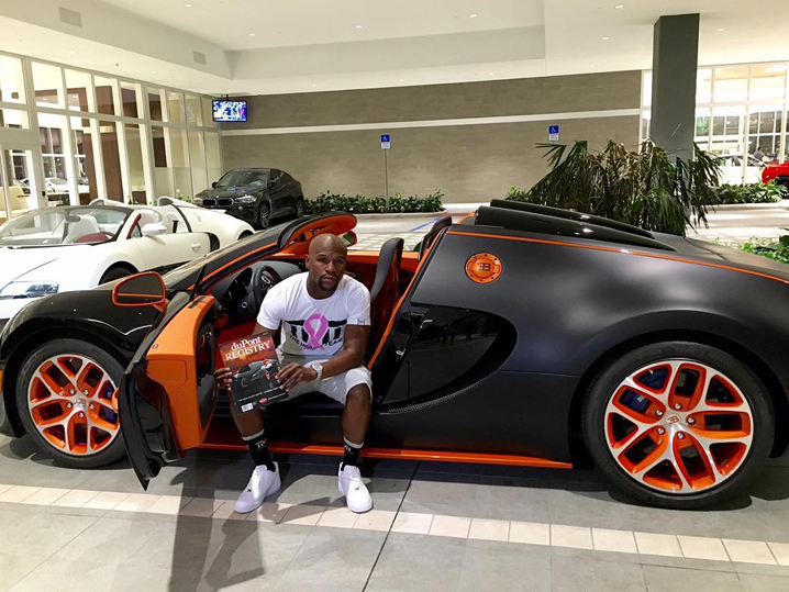 floyd mayweather 39 s bugatti for sale with million price tag. Black Bedroom Furniture Sets. Home Design Ideas