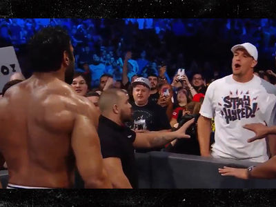 Rob Gronkowski Throws Beer On WWE Wrestler On 'SmackDown' (VIDEO)