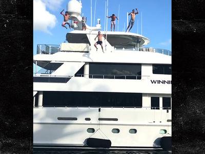 Rickie Fowler & Jordan Spieth Go Yacht Jumping in Bahamas
