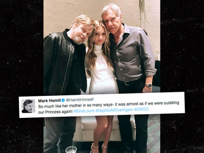 Harrison Ford and Mark Hamill's 'Star Wars' Reunion with Carrie Fisher's Daughter (PHOTO + VIDEO)
