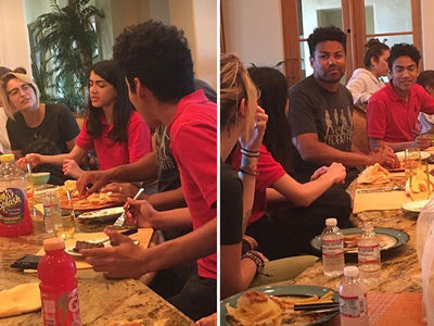 Paris Jackson Has Family Dinner with Brother Blanket (PHOTOS)