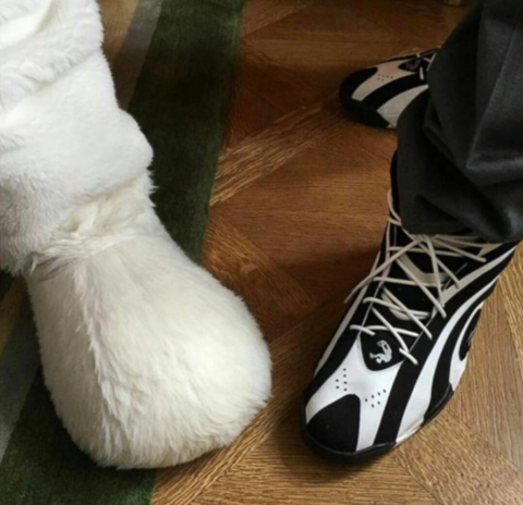 Shaq compared his foot to the Easter Bunny's this year.