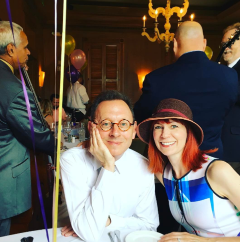 Carrie Preston and Michael Emerson had brunch together on Easter