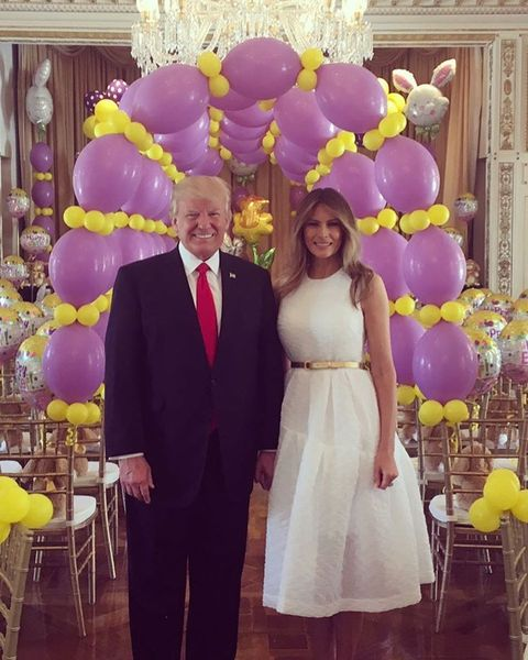 Melania Trump posted this easter pic to her FLOTUS instagram account
