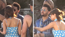 The Weeknd and Selena Gomez Make Out in Between Snack Breaks at Coachella (VIDEO)