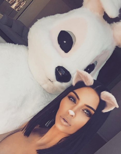 Kim K and the Easter Bunny