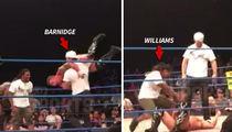 NFL's Gary Barnidge Body Slams Pro Wrestler