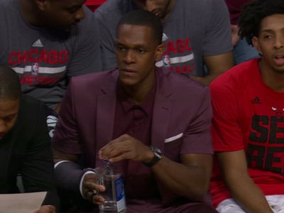 Rajon Rondo Rocks Short Sleeve Suit Jacket to Bulls Game (PHOTO)