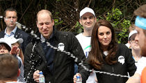 Prince William Gets Water Bottle Splash to the Face During London Marathon (PHOTO)