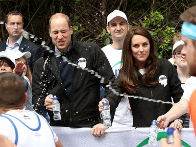 Prince William Gets Water Bottle Splash to the Face During London Marathon (PHOTO)