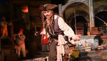 Johnny Depp Commandeers Pirates of The Caribbean Ride at Disneyland (VIDEO)