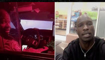 Chad Johnson Gets Lift from Cops, but Dumped at Gas Station!!! (VIDEO)