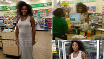 Serena Williams Flaunts Million Dollar Bump at Dollar Tree Store (PHOTO GALLERY)