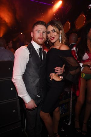 Canelo Alvarez Celebrating Win In Vegas