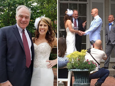 Senator Tim Kaine Officiates Wedding of Former Staffer in Virginia (PHOTOS)