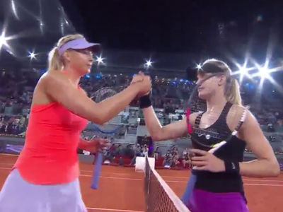 Genie Bouchard Beats Sharapova After Calling Her 'Cheater'