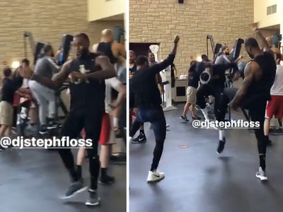 LeBron James Turns Practice into Dance Party with Kyrie Irving