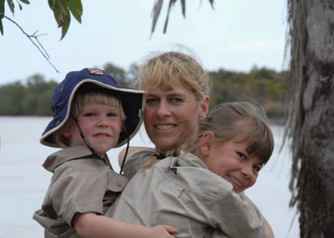 Bindi Irwin shared this special pic of her mom holding her and her brother.