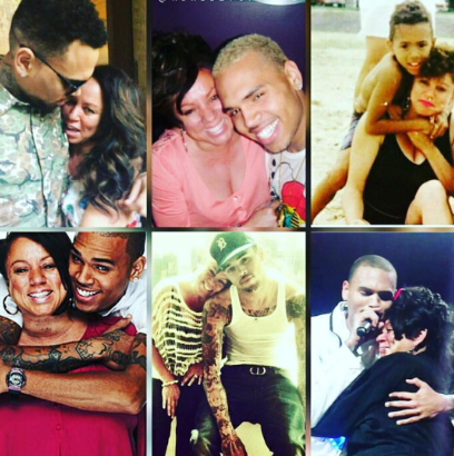Chris Brown posted a bunch of throwback pics on Mother's Day.