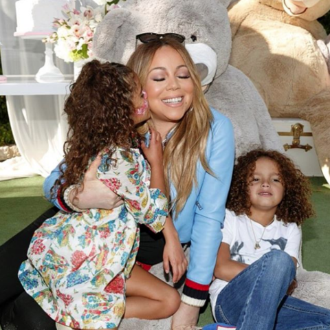 Mariah Carey posted a couple adorable pics of her and the kids.