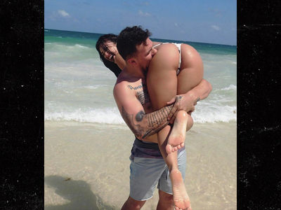 Johnny Manziel Takes Bite Out of Bre Tiesi's Butt Cheek