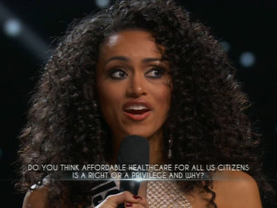 Miss USA Says Healthcare Is a 'Privilege' (VIDEOS)