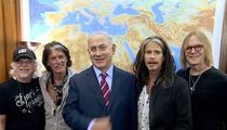 Israeli Prime Minister Benjamin Netanyahu Meets Aerosmith and Lays on the Jokes! (VIDEO)