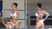 Bella Hadid Chills on a Yacht in Cannes in Tiny White Bikini (PHOTO GALLERY)