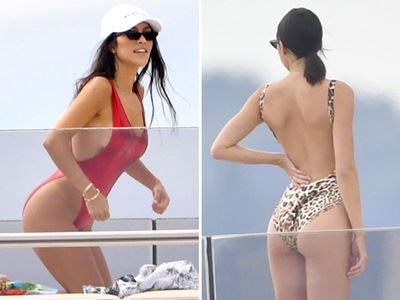 Kourtney Kardashian & Kendall Jenner's Asses Are All in for Yacht Fun in Cannes (PHOTO GALLERY)