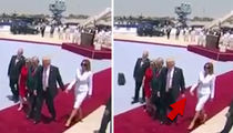 Melania Trump Slaps Away the President's Hand (VIDEO)