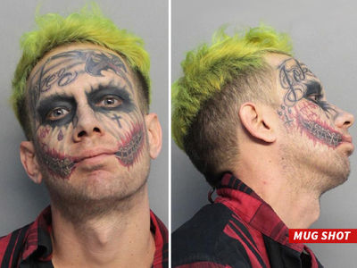 Joker Look-Alike Arrested After Allegedly Pointing Loaded Gun at Drivers (MUG SHOT)