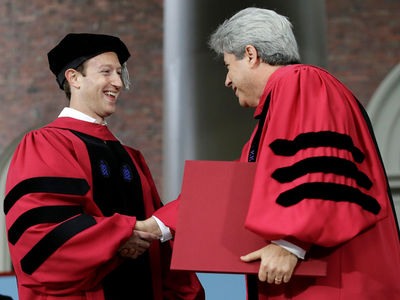 Mark Zuckerberg Finally Gets Harvard Degree, James Earl Jones Too! (PHOTOS)