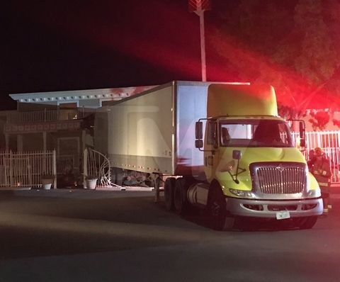 The Bunny Ranch, the Las Vegas area brothel where Lamar Odom infamously OD'ed, had another close brush with death when a disgruntled trucking employee took his company's semi and backed it through the front door.
