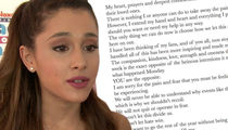 Ariana Grande Going Back to Manchester for Benefit Concert (DOCUMENT)