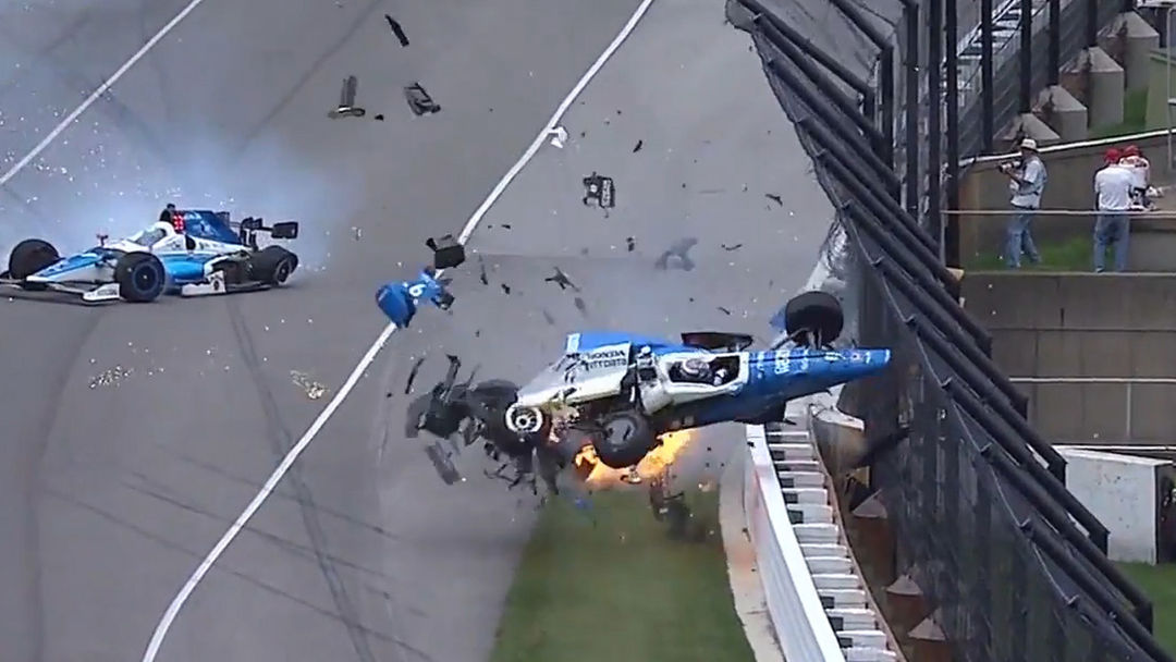 Indy 500 Crash Amazingly Caused No Harm to Drivers Scott Dixon and ...