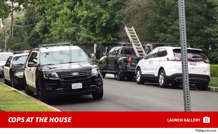 Moving trucks at lebron james house pictures