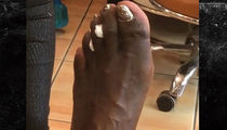 Shaq Paints Monster Toenails with Glitter Polish (VIDEO)