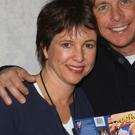 """The star resurfaced at some event with her """"Pirate Movie"""" co-star Christopher Atkins, looking happy."""
