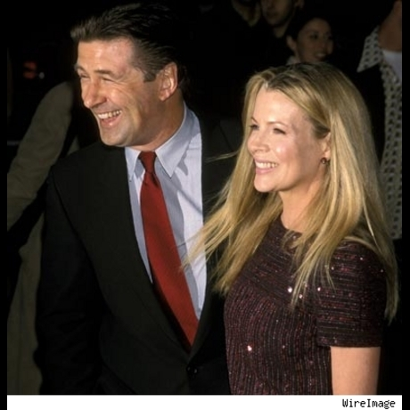 """Alec Baldwin and Kim Basinger at the New York premiere of """"I Dreamed of Africa"""" on April 18, 2000."""