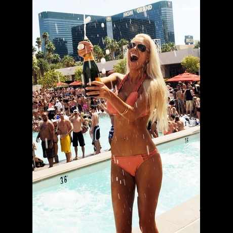 Heidi Montag and Crystal Harris at WET REPUBLIC