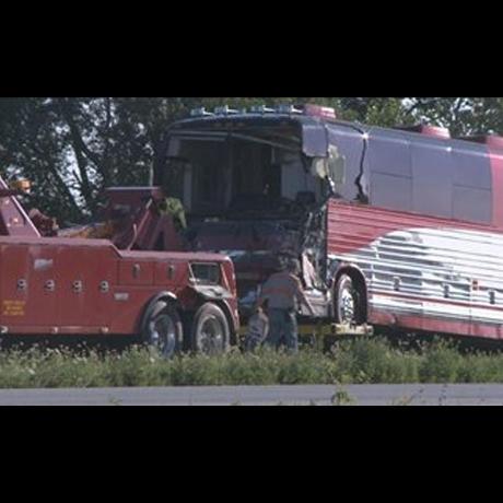 Miranda Cosgrove Tour Bus Crash Photo Gallery Pictures