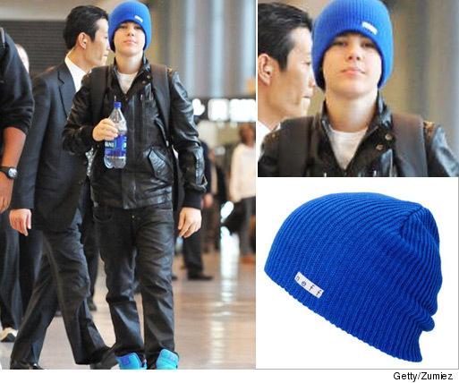 Bieber s Blue Beanie -- How Much It Cost   a0b51235343