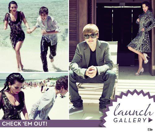 Kim Kardashian & Justin Bieber Go to Elle | toofab.com