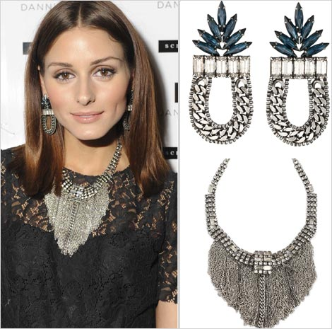 Palermo Sported Strong Pieces From Dannijo Wearing A Pair Of Amara Earrings Retailing At 295 And Giant Caprina Necklace Priced 870