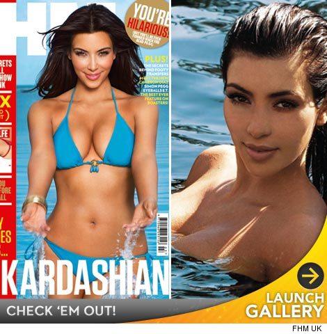 Kim Kardashian FHM Photoshoot