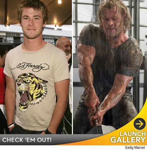 Hemsworth Bulks Up for 'Thor' -- See More Movie ...